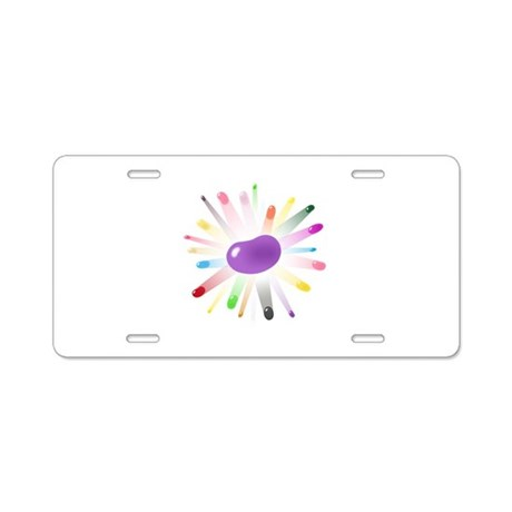 purple jellybean blowout Aluminum License Plate