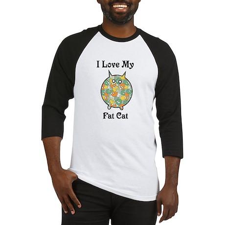Fat Floral Cat Baseball Jersey