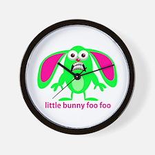 Little Bunny Foo Foo Wall Clock
