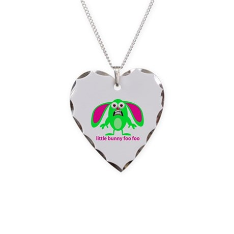 Little Bunny Foo Foo Necklace Heart Charm