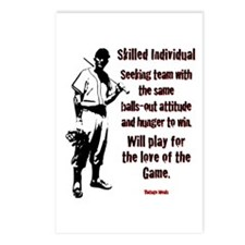 Love of the Game Postcards (Package of 8)
