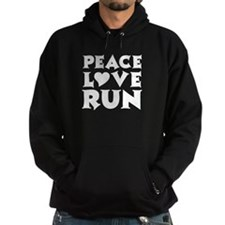 Peace Love Run - white Hoodie