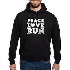 Peace Love Run - white Hoody