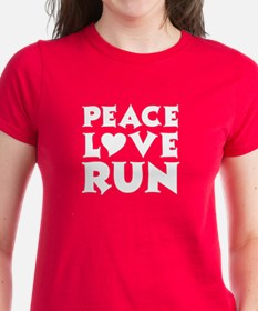 Peace Love Run - white Tee