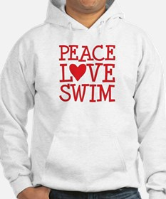 Peace Love Swim - red Hoodie
