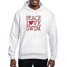 Peace Love Swim - red Jumper Hoody