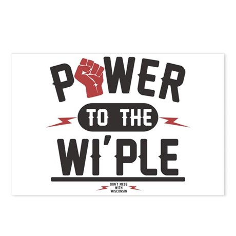 Power to the WI-PLE Wisconsin Postcards (Pkg of 8)