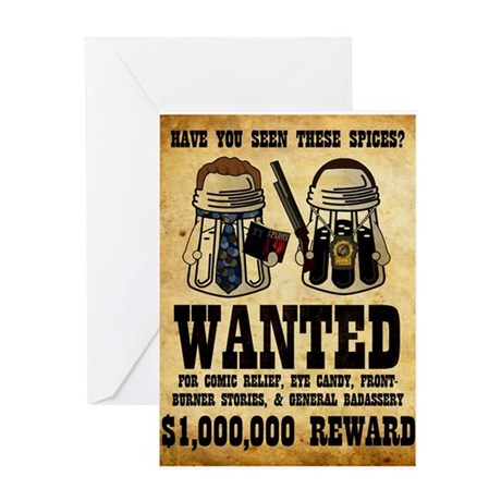 """Spices WANTED"" Greeting Card"