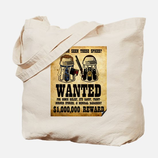 """""""Spices WANTED"""" Tote Bag"""