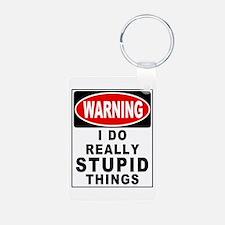 Stupid Things Aluminum Photo Keychain