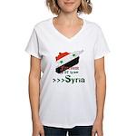 Freedom for Syria Women's V-Neck T-Shirt