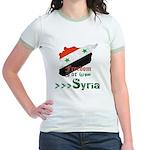 Freedom for Syria Jr. Ringer T-Shirt