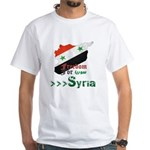 Freedom for Syria White T-Shirt