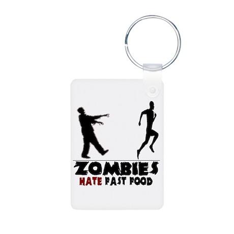 Funny Zombies Aluminum Photo Keychain