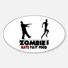 Funny Zombies Sticker (Oval)