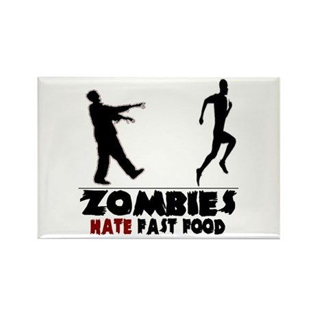Funny Zombies Rectangle Magnet