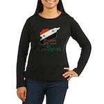 Freedom for Syria Women's Long Sleeve Dark T-Shirt