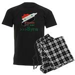 Freedom for Syria Men's Dark Pajamas