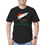 Freedom for Syria Men's Fitted T-Shirt (dark)