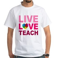 Live Love Teach Autism Shirt