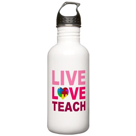 Live Love Teach Autism Stainless Water Bottle 1.0L