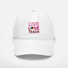 Live Love Teach Autism Baseball Baseball Cap