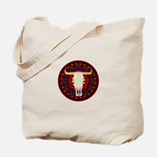 Bull Skull Design Tote Bag