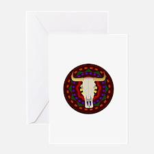 Bull Skull Design Greeting Card
