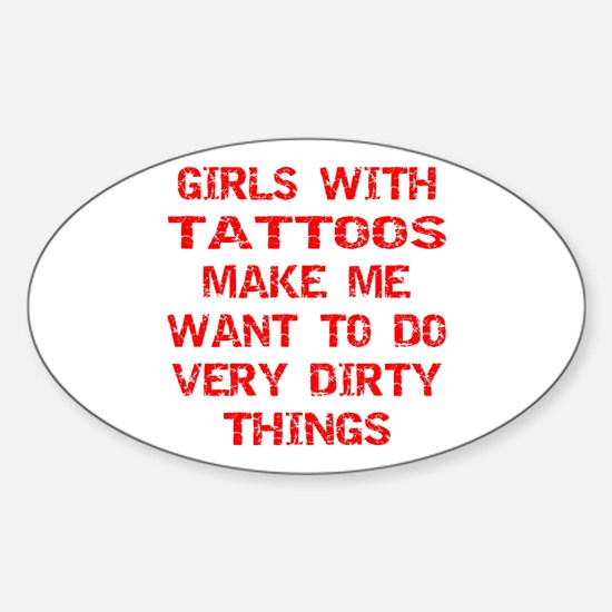 Girls With Tattoos Sticker (Oval)