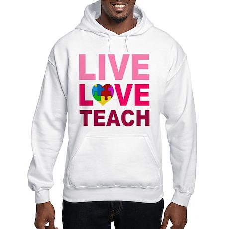Live Love Teach Autism Hooded Sweatshirt