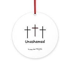 Ornament (Round) - 3 Crosses Unashamed