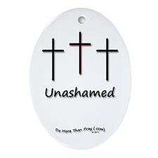 Ornament (Oval) - 3 Crosses Unashamed
