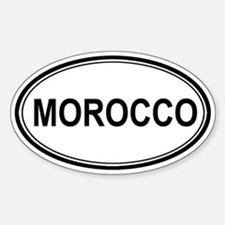 Morocco Euro Oval Decal
