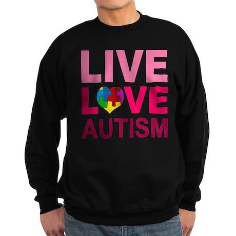 Live Love Autism Sweatshirt (dark)