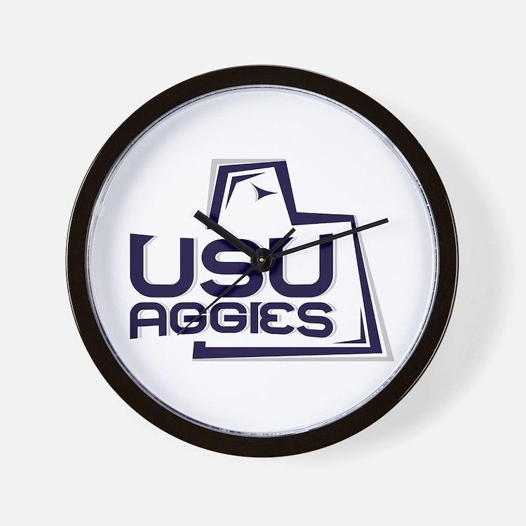 Cute Utah state aggies Wall Clock