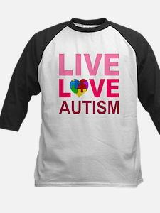 Live Love Autism Kids Baseball Jersey