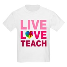 Live Love Teach Autism T-Shirt