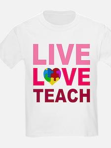 Live Love Teach Autism T-Shirt