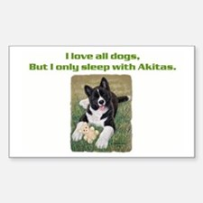 Akita Puppy Rectangle Decal