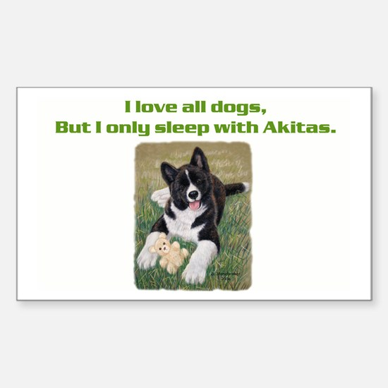Akita Puppy Rectangle Decal