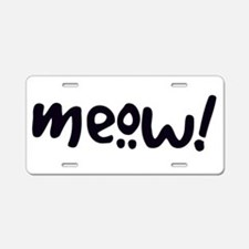 Meow! Cat-Themed Aluminum License Plate
