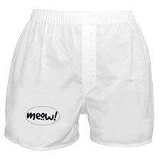 Meow! Cat-Themed Boxer Shorts