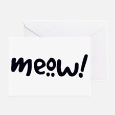 Meow! Cat-Themed Greeting Card