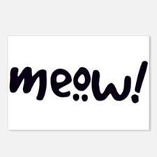 Meow! Cat-Themed Postcards (Package of 8)