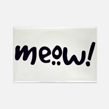 Meow! Cat-Themed Rectangle Magnet