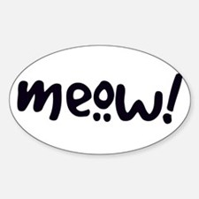 Meow! Cat-Themed Decal
