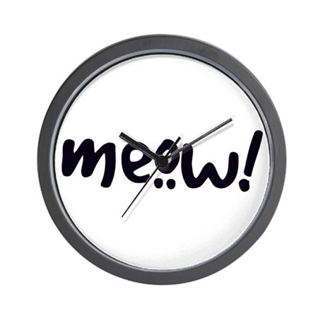 Meow! Cat-Themed Wall Clock