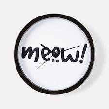 Meow! Cat-Themed Wall Clock