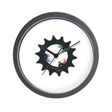 fixed gear cycling Wall Clock