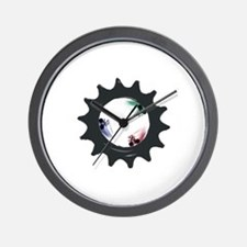 fixed gear cycling Wall Clock